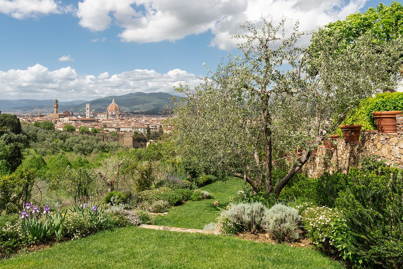 panoramica del giardino